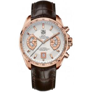 Horlogeband Tag Heuer CAV514B / BX0849 XL Krokodillenleer Bruin