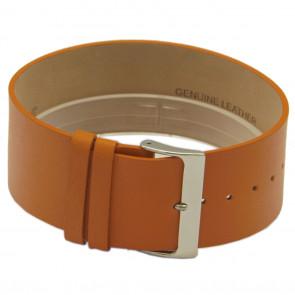 Horlogeband Universeel CCC.1031 / Z031 Leder Oranje 28mm