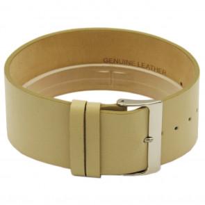 Horlogeband Universeel CCC.1033 / Z033 Leder Beige 28mm