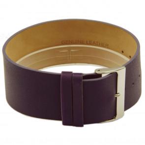 Horlogeband Universeel CCC.1034 / Z034 Leder Paars 28mm