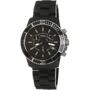 Horlogeband Fossil CH2623 Kunststof/Plastic Zwart 20mm