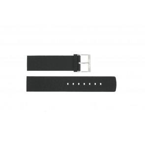 Horlogeband Calvin Klein CK75-W08S Leder Zwart 20mm