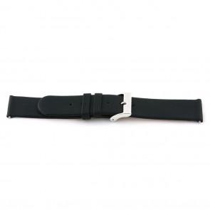 Horlogeband 800.R01 Leder Zwart 12mm + standaard stiksel