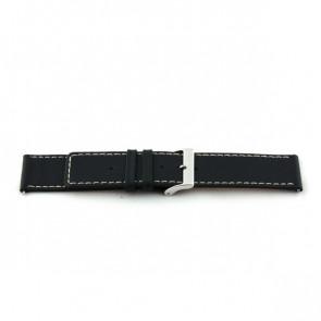 Horlogeband Universeel J310 Leder Zwart 26mm