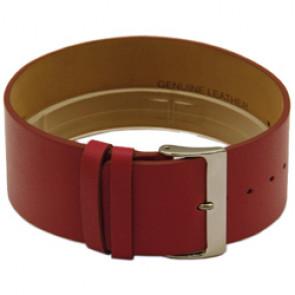 Leder horlogeband een geheel 28mm rood CCC.1037