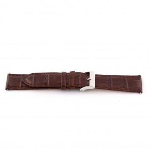 Horlogeband D341 Leder Bruin 14mm + bruin stiksel