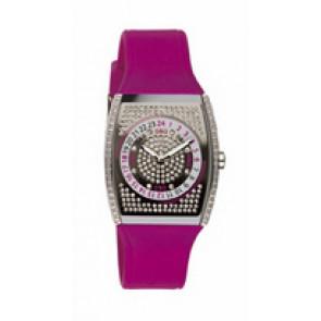 Horlogeband Dolce & Gabbana DW0071 Silicoon Rood