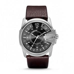 Diesel horlogeband DZ-1206 / DZ-1234 / DZ-1259 / DZ-1399 Leder Bruin 27mm