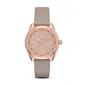 Horlogeband Diesel DZ5534 Glad leder Beige 20mm
