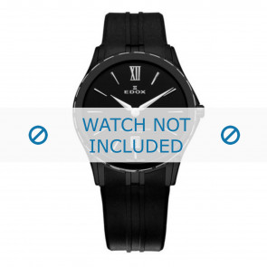 Edox horlogeband 26024-357-N-NIN Silicoon Zwart