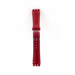 Horlogeband Universeel ES.1.06 Leder Rood 19mm