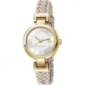 Esprit horlogeband ES107632.009 Leder Beige 10mm