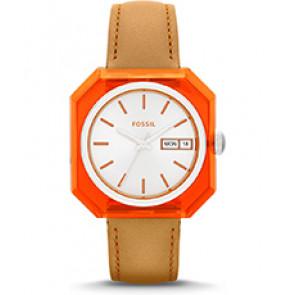 Horlogeband Fossil ES3537 Leder Bruin 18mm