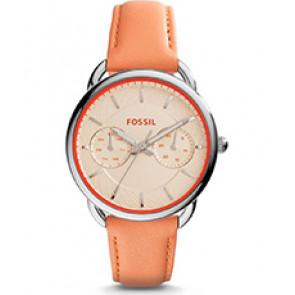 Horlogeband Fossil ES3952 Leder Oranje 16mm