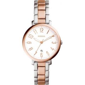 Horlogeband Fossil ES4034 Roestvrij staal (RVS) Rosé 14mm