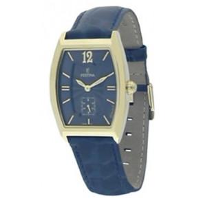 Horlogeband Festina F16026-3 Leder Blauw 18mm