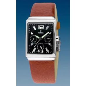 Horlogeband Festina F16139-8 Leder Bruin 23mm