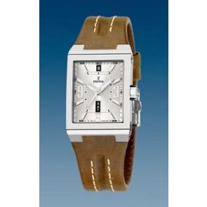 Horlogeband Festina F16186/02 Leder Lichtbruin