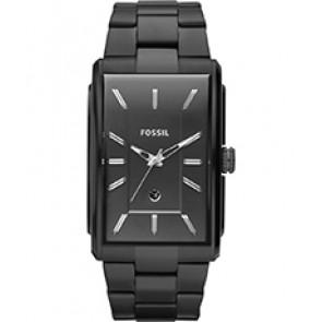 Horlogeband Fossil FS4678 Roestvrij staal (RVS) Zwart 26mm