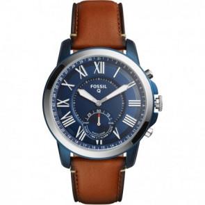 Horlogeband Fossil FTW1147 Leder Bordeaux