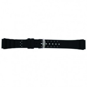 Horlogeband Condor SL100 Silicoon Zwart 18mm