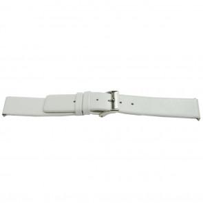 Horlogeband leder wit 26mm EX-J510