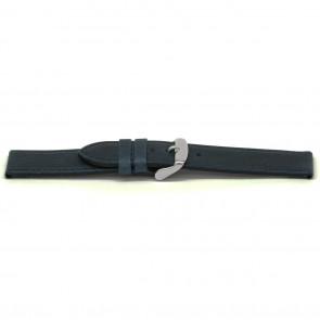 Horlogeband Universeel C629 Leder Blauw 12mm