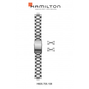 Horlogeband Hamilton H705050 / H001.70.505.133.01 Staal 20mm
