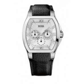 Horlogeband Hugo Boss 100-1-14-2229 Leder Zwart