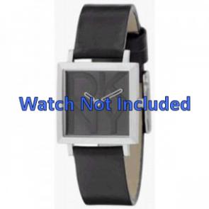 Horlogeband DKNY NY3419 Leder Zwart