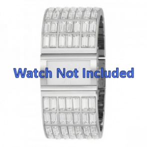 DKNY horlogeband NY-3768 Staal Zilver 20mm