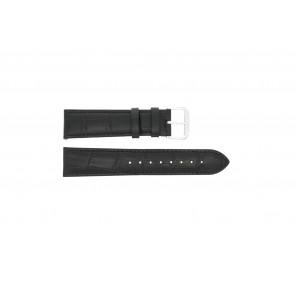 Horlogeband Condor 305L.01.12 XL Leder Zwart 12mm