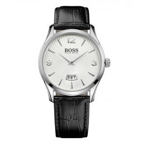 Horlogeband Hugo Boss HB-288-1-14-2930 / HB1513449 Croco leder Zwart