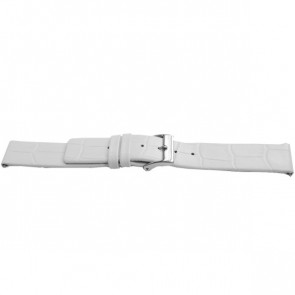 Horlogeband Universeel F520 Leder Wit 18mm