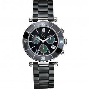 Horlogeband Guess I43001M2 Roestvrij staal (RVS) Zwart
