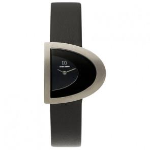 Horlogeband Danish Design IV13Q842 Leder Zwart