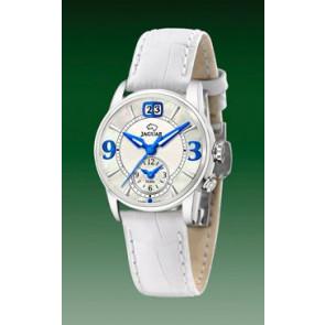 Horlogeband Jaguar J624-1 / J624-A Leder Wit 17mm