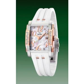 Horlogeband Jaguar J648-1 Rubber Wit