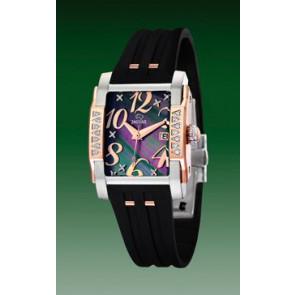 Horlogeband Jaguar J648-2 Rubber Zwart 18mm