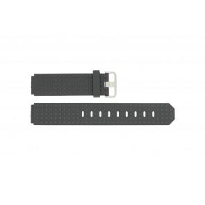 Horlogeband Jacob Jensen 400 / 410 / 411 / 412 Rubber Zwart 17mm