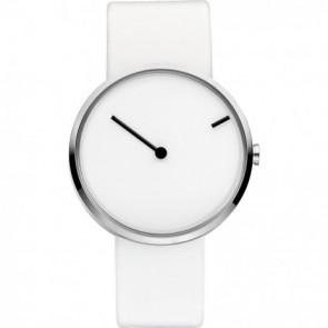 Horlogeband Jacob Jensen 253 Leder Wit 18mm