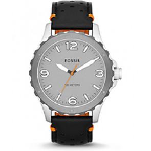 Horlogeband Fossil JR1449 Leder Zwart 22mm