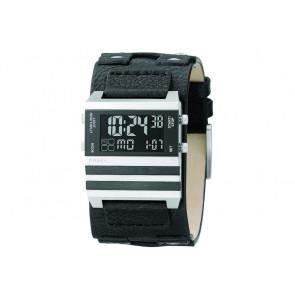 Horlogeband Fossil JR9747 Leder Zwart