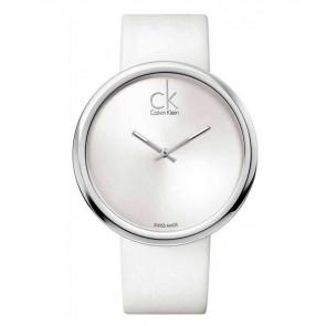 Horlogeband Calvin Klein K0V23120 / K600000037 Leder Wit 22mm