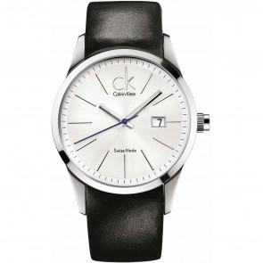 Horlogeband Calvin Klein K2246126 Leder Zwart