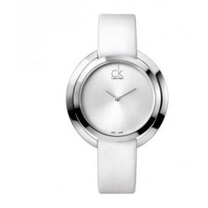Horlogeband Calvin Klein K3U231 / K600000174 Leder Wit