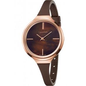 Horlogeband Calvin Klein K4U236 Rubber Bruin