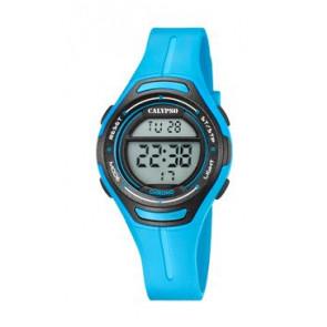 Horlogeband Calypso K5727-4 Silicoon Blauw