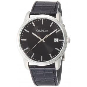 Horlogeband Calvin Klein K5S 311 Leder Zwart