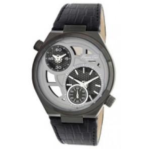 Horlogeband Kenneth Cole KC1777 Leder Zwart